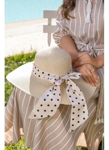 Katia & Bony Puantiye Detaylı Kadın şapka - Pembe Bej